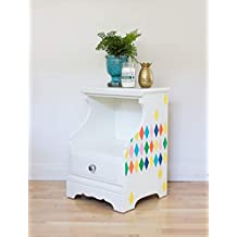 Harlequin Furniture Stencil - Custom Painted Reclaimed Furniture Designs