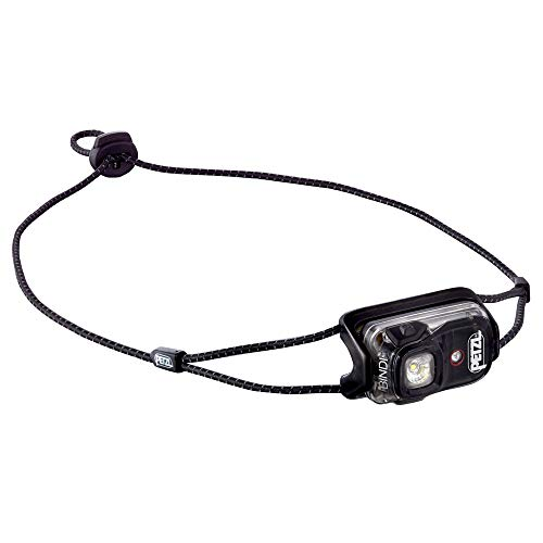 PETZL - Bindi, 200 Lumens, Ultralight, Rechargeable, and Compact Headlamp for Urban Running, Black