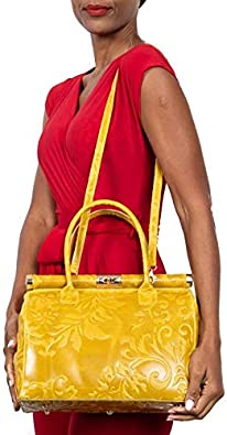 Details about  / Italian leather handbags on sale; Vittoria Pacini beige calf leather satchel