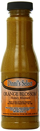 Dinni's Select Orange Blossom Honey Mustard Sauce, Dip Spread, 12-Ounce Bottles (Pack of 3) Cajun Dip