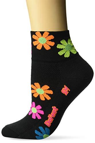 DEFEET AIRFPBK301 Aireator Flower Power 2 Womens Specific Socks, Large, Black