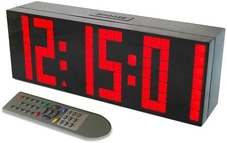 ZJchao Orologio digitale LED da parete, di grandi dimensioni, con funzione sveglia, timer, countdown e telecomando