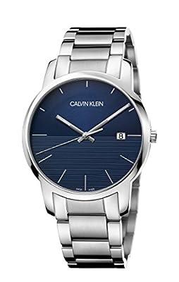 Calvin Klein City Silver & Blue Steel Men's Watch