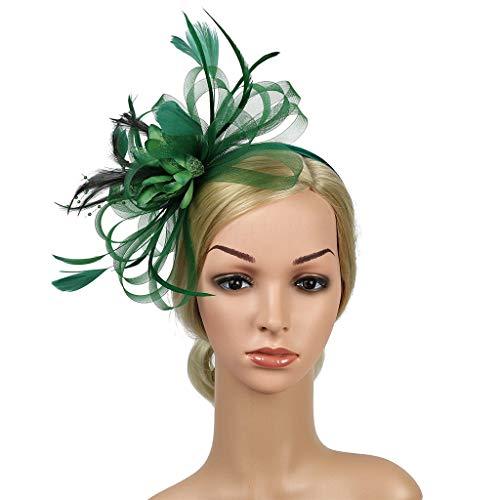UROSA Headpiece Headband Headdress Floral Flower Garland Girls Headband Green]()