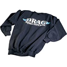 Drag Specialties Drag Specialties Mens Pullover Sweatshirt Black/White/Blue LG