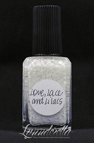 Lynnderella White Glitter Shimmer Nail Polish—Love, Lace and Lilacs by Lynnderella