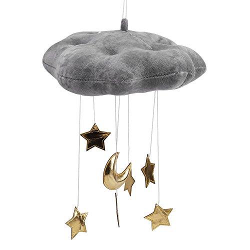 Fdit Nube Colgante Decoración Nube Flotante Colgante con Estrellas deLuna Bebé Cuna Habitación Juego Tienda de Campaña...
