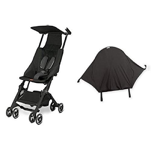 gb Pockit Stroller, Monument Black & Summer Infant Rayshade Stroller Cover
