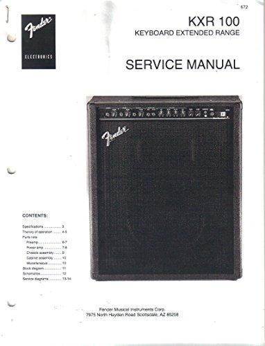 FENDER KXR 100 Keyboard Extended Range Amp Service Repair Manual