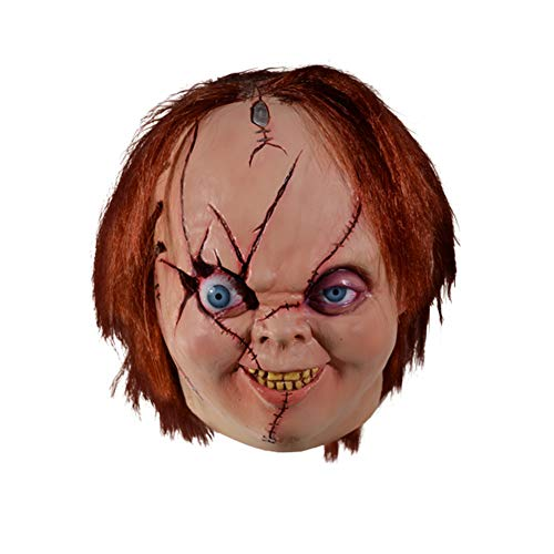 Loftus International Bride of Chucky Version 2 Chucky Full Head Mask, Beige Red, One-Size Novelty -