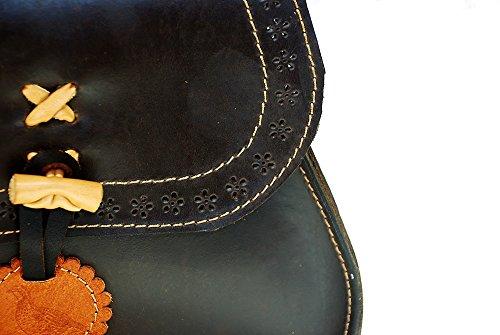 Tasche, rebhuhnjagd handgefertigt in Spanien in Leder Serraje Engrasado
