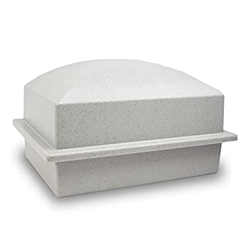 OneWorld Memorials Cremation Urn Vault Polymer Urn Vault for Burial – Extra Large Granite Grey Outdoor Burial Vaults