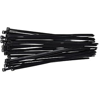 "DTOL 8"" Plastic Cable Zip Ties 100-Pack (Black)"