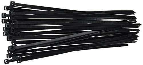 DTOL 8' Plastic Cable Zip Ties 100-Pack (Black)