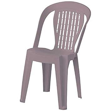 Plastica Alto Sele Chaise Bistrot Violetta Taupe Multicolore 47