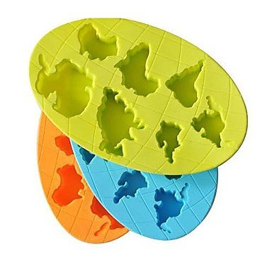 The World's Seven Continents Ice Mould Silicone random