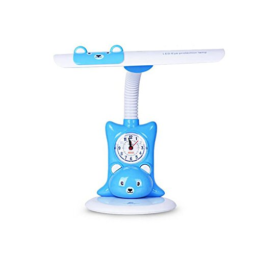 - Desk Lamp Table Lamp LED Charging Desk Lamp Band Alarm Clock Cartoon Learn Creativity Eye Protection Light Read Bedside Watch Table Lamps (Color : Blue)