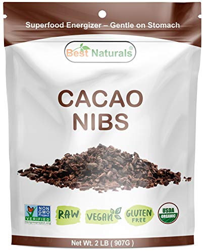 Best Naturals USDA Certified Organic Cacao Nibs 2 Pound - Non-GMO Project Verified