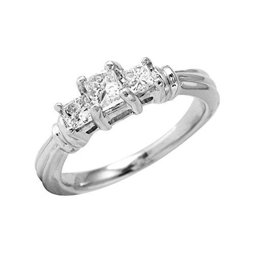 0.48 Carat Natural Diamond 950 Platinum Engagement Ring for Women Size 5.5 (Diamond Ring 950 Platinum Rings)