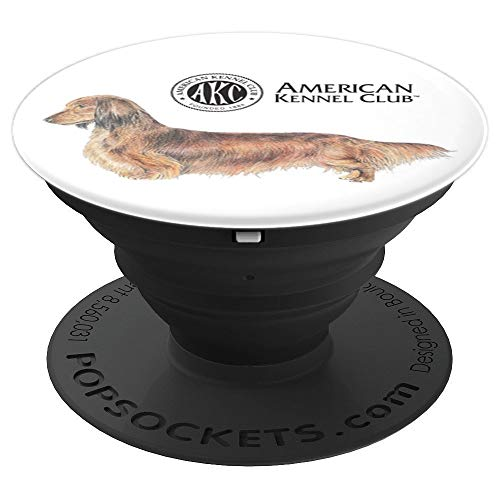AKC Longhaired Dachshund PopSocket - PopSockets Grip and Stand for Phones and Tablets