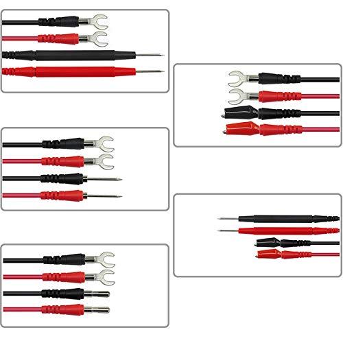 Proster Kit Puntali da Test per Multimetro P1500 Puntali kit Sostituibile Fili Sonde di Prova per Tester Circuito Tensione