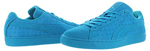 Puma Adult Suede Classic Shoe Blue Jewel / Blanco