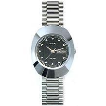 Rado Diastar Black Dial Polished Stainless Steel Mens Watch R12391153