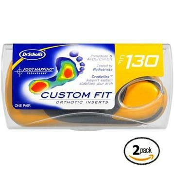 Dr. Scholl's Custom Fit Orthotics CF 130 2-Pack Shoe Sole Insole Inserts