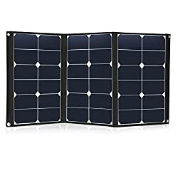 60 Watt Portable Solar Panel Charger Foldable Sunpower 18V 12V Solar Charger with MC4 Connector and Dual-port Output (USB 5V + DC 18V) for Hiking, Camping, Solar Generator, RV, Boat