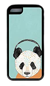 iPhone 5C Case, Personalized Protective Rubber Soft TPU Black Edge Case for iphone 5C - Panda Cover by Maris's Diary