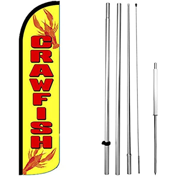 4 four PARTY SUPPLIES 15 WINDLESS SWOOPER FLAGS KIT