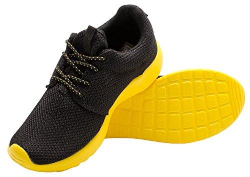 Santimon Mens Loopschoenen Lichtgewicht Floater Paar Sport Atletische Sneaker Geel