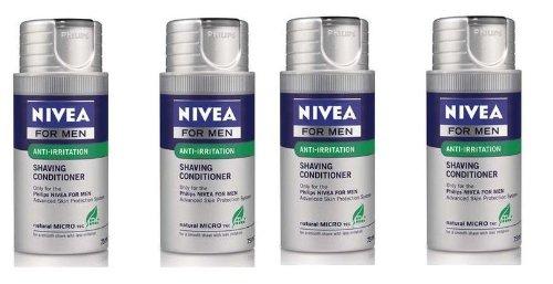 4 X Philips HS800 Nivea Shaving Conditioner Moisturising Balm For Men (Nivea Shaving Conditioner)