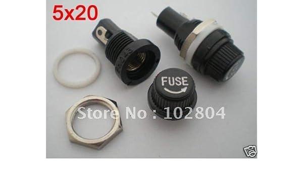 Amazon.com: Davitu Fuse Holder for 5x20mm Fuse 1000 Pcs per Lot ...