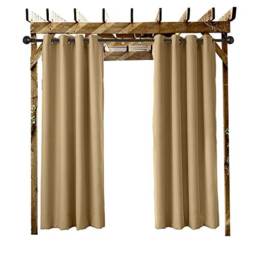 Extra Wide Outdoor Curtain Wheat 150