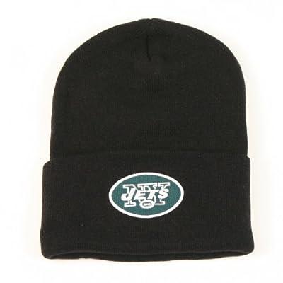 New York Jets Cuffed Classic Knit Hat (Black)