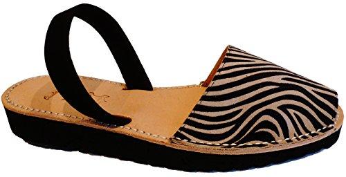 forme 2 Menorquinas coin avarcas et menorquínas léopard Avarcas cm 5 Plate Zebra waqExInBqr