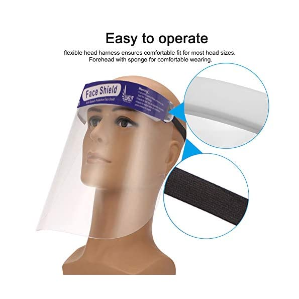 ORILEY-ORFSN04-175-Micron-Disposable-Face-Shield-with-Adjustable-Elastic-Strap-Anti-Splash-Single-Use-Protective-Facial-Cover-Transparent-Full-Face-Visor-with-Eye-Head-Protection-1-PC