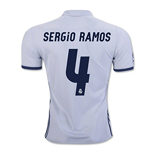 Amazon.com   SERGIO RAMOS  4 REAL MADRID HOME SOCCER JERSEY 16 17 MEN S  WHITE COLOR JERSEY   Books 780c0d2d2