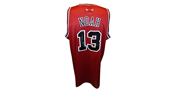 d79e7a157b04 ... Joakim Noah Autographed Chicago Bulls (Red 13) Adidas Swingman Jersey  at Amazons Sports Collectibles ...