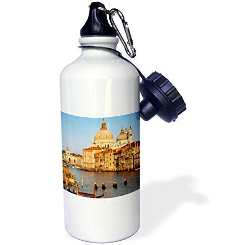 3dRose wb_137531_1 ''Grand Canal, Santa Maria della Salute, Venice Italy EU16 BJN0033 Brian Jannsen'' Sports Water Bottle, 21 oz, White by 3dRose