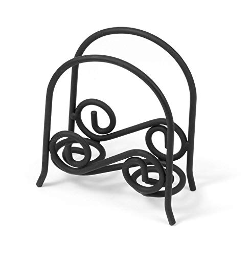 Wrought Iron Napkin Holder - Spectrum Diversified Scroll Napkin Holder, Arch, Black