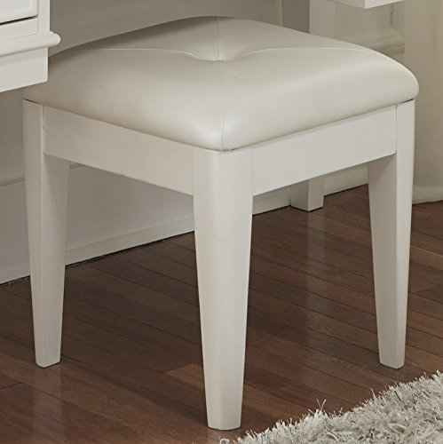 Liberty Furniture 710-BR48 Stardust Vanity Bench, 16'' x 16'' x 18'', Iridescent White by Liberty