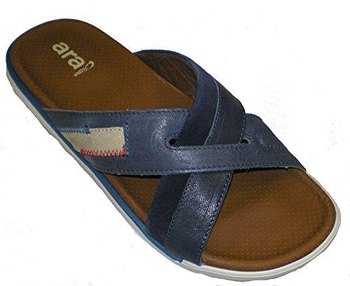 ara Men's Leather Loafer Shoes US 9.5 M (41 EU) Blue (Loafers Suede Ara)