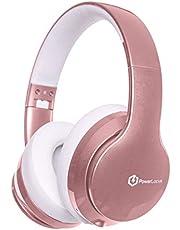 PowerLocus P6 Draadloze Over-Ear Koptelefoon, Inklapbaar Bluetooth Hoofdtelefoon, Koptelefoons Met microfoon voor Telefoons,Tablets,PC (Rose Gold)