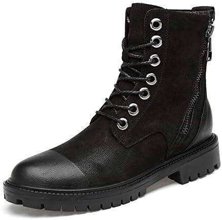 快適なソフトハイトップアウトソールジッパーコットン暖かい作業靴(従来のオプション)メンズアンクルブーツカジュアル 快適な男性のために設計