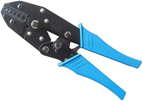 ケーブルカッター 1-10mm² 22-8AWG 手動圧着ペンチ 非絶縁ケーブルコネクタ用 圧着工具 手動ケーブルカッター