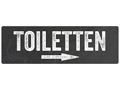 T/ürschild Hinweisschild TOILETTEN Pfeil *RECHTS* Toilettenschild WC-Schild Hotel Restaurant
