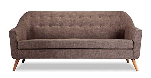 Kardiel Cameron Mid-Century Modern Classic English Sofa, Tundra Twill