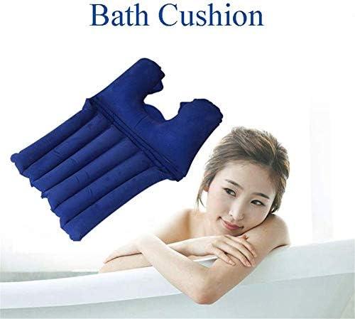 耐久性のある快適なバスタブ枕バッククッションノンスリップ風呂枕SPAヘッドレスト無臭防水、バスタブ用品